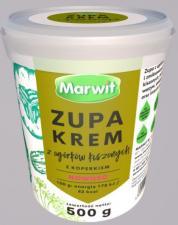 Marwit poszerza ofertę zup. W sprzedaży pojawił się krem z ogórków kiszonych