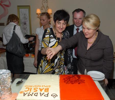 Magdalena Brzosko (z prawej), Ewa Klatt i Piotr Facon z Tymofarmu