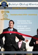 """Biuletyn Obsługi Klienta prezentuje laureatów """"Złotej Słuchawki"""" i """"Telemarketera Roku"""" 2018"""