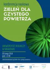 Zieleń dla czystego powietrza – konferencja naukowa w Krakowie