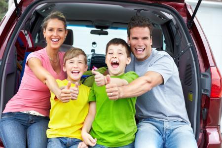 Rodzinne auto z wypożyczalni