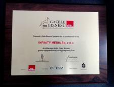 Infinity Media z Gazelą Biznesu