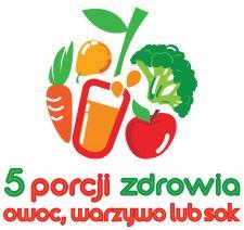 5 porcji warzyw, owoców lub soku.