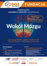 """""""Wokół mózgu"""" - zaproszenie na bezpłatną konferencję dla seniorów"""