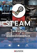 Kolporter z doładowaniami Steam
