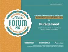 Purella Food Innowatorem Rynku Spożywczego 2017