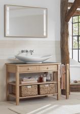 Pomiędzy tradycją a nowoczesnością – solidność dębu i rzemieślnicza precyzja w meblach łazienkowych