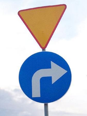 Nakaz skrętu w prawo