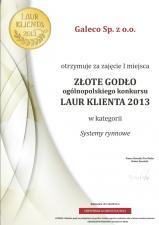 Uśmiechnięte rynny Galeco ze Złotym Godłem Laur Klienta 2013