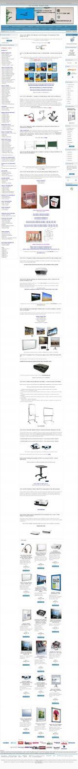Intronex - Gabloty informacyjne i ekrany projekcyjne dla Szkoły, Firmy, Sali konferencyjnej
